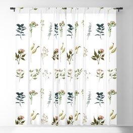 Delicate Floral Pieces Blackout Curtain