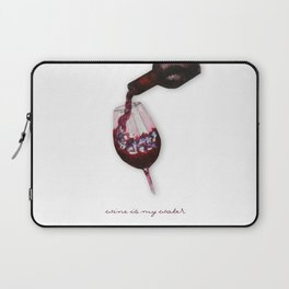 watercolor glass of wine Laptop Sleeve