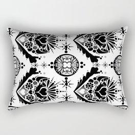 black pattern 8 Rectangular Pillow