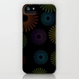 Colorful Christmas snowflakes pattern- holiday season gifts- Happy new year gifts iPhone Case