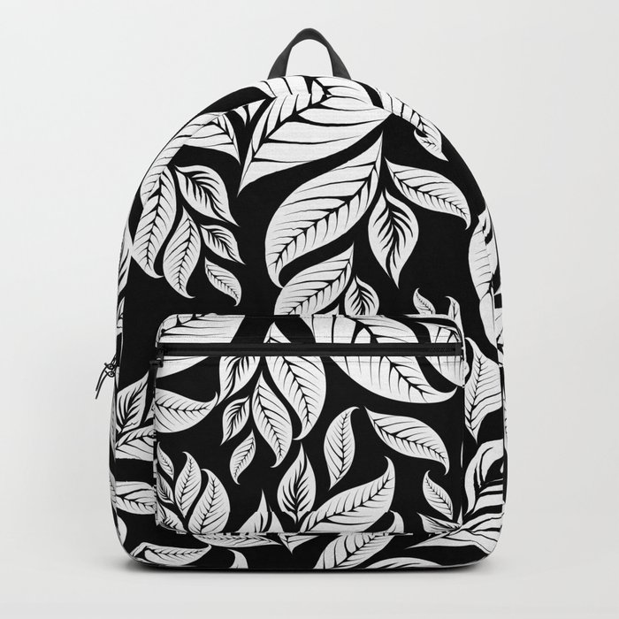 LEAVES IN BLACK AND WHITE Backpack