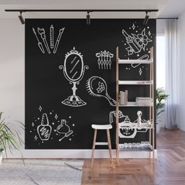 Cosmetics Themed Illustration Wall Mural