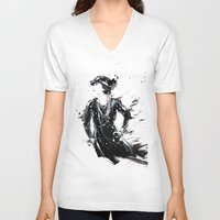 coco V-neck T-shirts featuring Coco by Sasha Spring Illustration