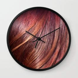 hair sunset Wall Clock