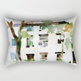 Brownstones and Tree Rectangular Pillow