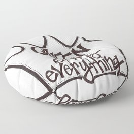 Queen of Effing Everything // Sassy Quote Floor Pillow