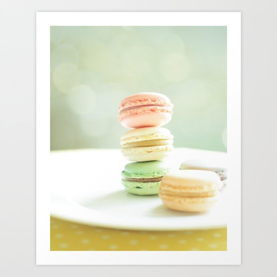 Hmmm Macarons Art Print