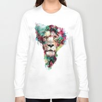 king Long Sleeve T-shirts featuring THE KING by RIZA PEKER