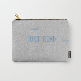 Just Read Grey Carry-All Pouch