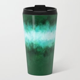 Green Forest Abstract Travel Mug
