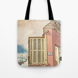 Downfall - Demolition building Tote Bag