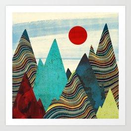 Color Peaks Art Print