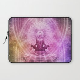 Spiritual Yoga Meditation Zen Colorful Laptop Sleeve
