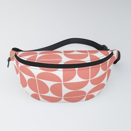 Mid Century Modern Geometric 04 Living Coral Fanny Pack