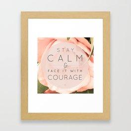 Stay Calm Framed Art Print