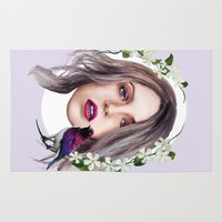 jasmine Area & Throw Rugs featuring Jasmine by Ellen Macintyre