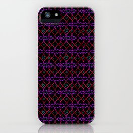 Pink and purple heart iPhone Case