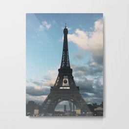 Eiffel Tower During Europe Cup Soccer Championship Metal Print