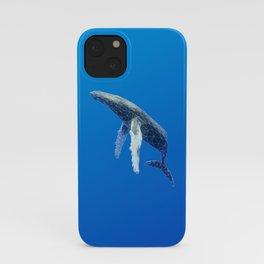 Geometric Humpback Whale iPhone Case