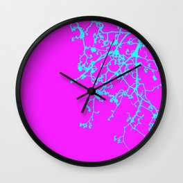 corrected orchid Wall Clock