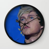 niall horan Wall Clocks featuring Niall Horan  by Tune In Apparel