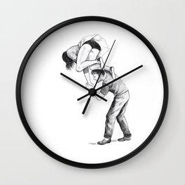 Acrobats I Wall Clock