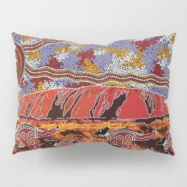 Uluru (Ayers Rock) Authentic Aboriginal Art Pillow Sham