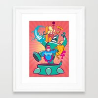 heroes Framed Art Prints featuring Heroes by ANDY