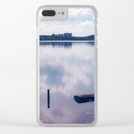 Reflection of clouds on the lake Clear iPhone Case