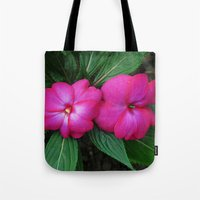 hot pink Tote Bags featuring Hot Hot Pink by Nevermind the Camera