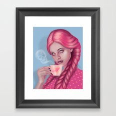 My Blood Type is Coffee Framed Art Print