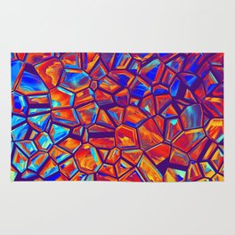 Colorful Shattered Crystals Rug