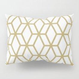 MCM Gold Geometric Pillow Sham