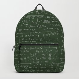 Geek math or economic pattern Backpack