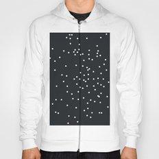 Falling white dots on black Hoody