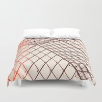 pyramid Duvet Covers featuring pyramid by shannonblue