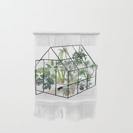 greenhouse with plants Wall Hanging