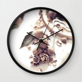 Still Life, macro food photo, fine art for home interior decoration, Wall Clock