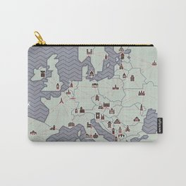 European Capitals - Map Carry-All Pouch