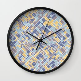 Abstract square pattern Wall Clock