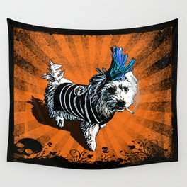 Puppy Punk Wall Tapestry