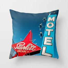 vegas stardust ! vintage starlite motel  Throw Pillow