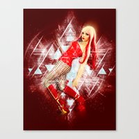 android Canvas Prints featuring Android by MellodyDoll