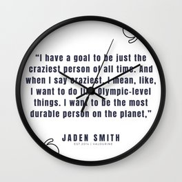 27   |  Jaden Smith Quotes | 190904 Wall Clock