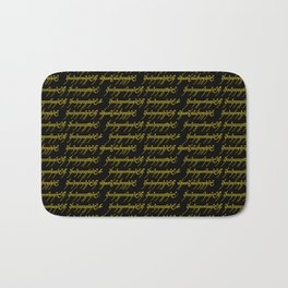 Elvish // Gold & Black Bath Mat