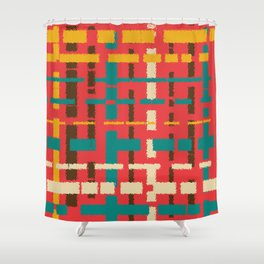 Colorful line segments Shower Curtain