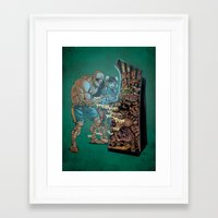 street fighter Framed Art Prints featuring Street Fighter by Christopher Schons