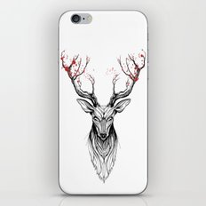 Deer tree (black stroke version for t-shirts) iPhone Skin