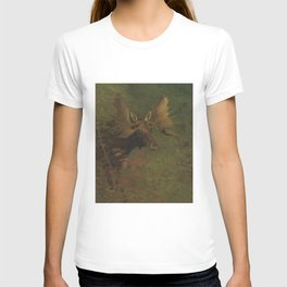 Vintage Painting of a Bull Moose T-shirt