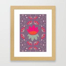Folk Flower 1 Framed Art Print
